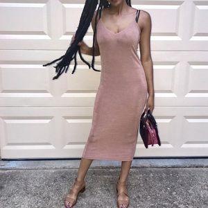 Zara pink mauve long dress